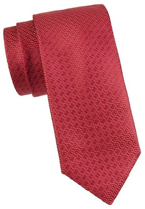Canali Tonal Abstract Silk Tie