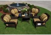 Sangria Fleischmann 5 Piece Sunbrella Conversation Set with Cushions Darby Home Co Color: Java, Fabric: Montfleuri