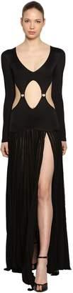 Roberto Cavalli Rib Knit Dress W/ Cutouts