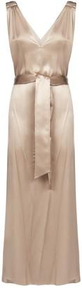 Brunello Cucinelli Belted Slip Dress