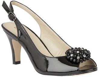 Elodie K Lotus Shoes Peep Toe Slingback Heels