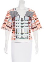 Clover Canyon Digital Print Short Sleeve Top