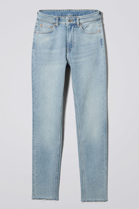 Weekday Thursday Reused Blue Cut Jeans - Blue