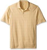 Van Heusen Men's Big and Tall Short-Sleeve Jacquard Windowpane Polo Shirt