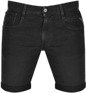 Replay Anbass Denim Shorts Black