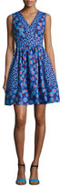 Kate Spade Sleeveless Tangier Floral Fit-And-Flare Dress, Blue
