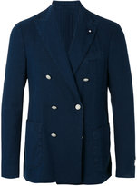 Lardini double breasted jacket - men - Cotton/Polyester - 50