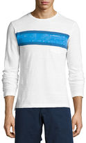 Orlebar Brown Robby Classic-Fit Striped Long-Sleeve T-Shirt, White/Maritime/Navy