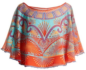 Zandra Rhodes Archive Ii The 1978 Mexican Circle Top - Womens - Orange Multi