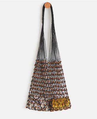 MANGO Net Wood Bag