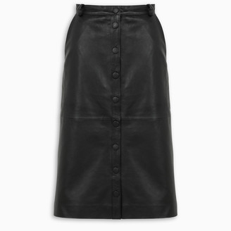 REMAIN Birger Christensen Bellis skirt in black leather