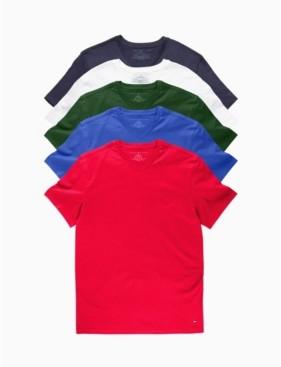 Tommy Hilfiger Men's V-Neck Undershirt, Pack of 5