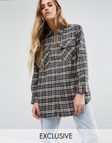 Reclaimed Vintage Checked Boyfriend Shirt