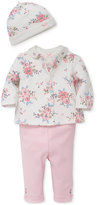 Little Me 4-Pc. Floral Hat, Jacket, Bodysuit and Leggings Set, Baby Girls (0-24 months)