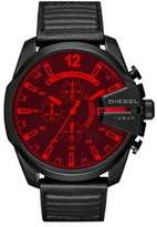 Diesel Night Ops Advanced Mega Chief Stainless Steel Leather-Strap Watch