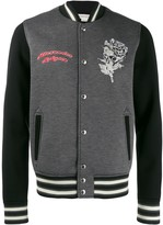 Alexander McQueen floral skull embroidered bomber jacket
