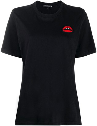 Markus Lupfer lips print short-sleeve T-shirt