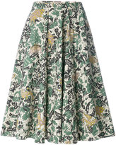 Burberry beasts print skirt - women - Cotton/Polyester - 6