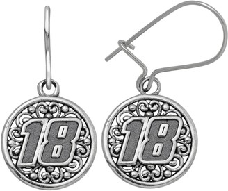 """Insignia Collection NASCAR Kyle Busch Stainless Steel """"18"""" Drop Earrings"""
