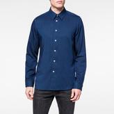 Paul Smith Men's Tailored-Fit Indigo Viscose-Blend Shirt