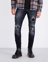 Represent Biker skinny mid-rise jeans