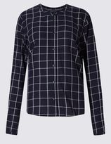 Marks and Spencer PETITE Pure Cotton Checked Shirt