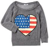 Dirtee Hollywood Girls 7-16) American Heart Fleece Pullover