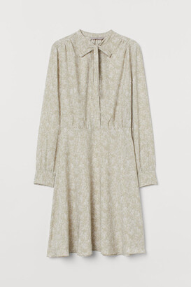 H&M Creped Dress with Ties - Green