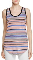 Three Dots Stripe Print Tank Top