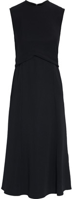 Victoria Beckham Fluted Draped Crepe Dress