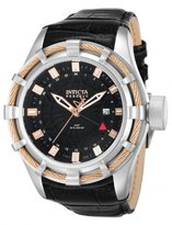 Invicta Men's Reserve Bolt Swiss GMT Dial Leather Strap Watch 12714