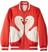 Stella McCartney Willow Swan Bomber Jacket Girl's Coat