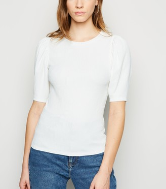 New Look Crinkle Puff Sleeve T-Shirt
