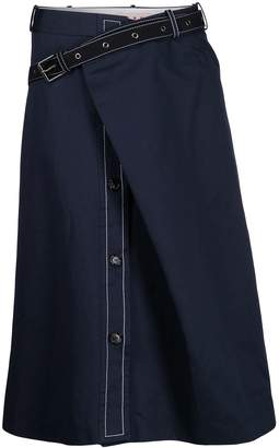 Marni A-line wrap skirt