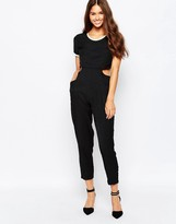 Harlyn Cut Out Jumpsuit With Short Sleeves