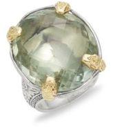 Konstantino Astritis Prasiolite, 18K Gold & Sterling Silver Ring