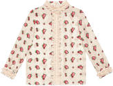 Gucci Children's rose bud print silk shirt