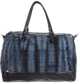 Maje Tie-Dye Canvas Satchel