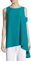 Shamask Three Arm Bandit Asymmetric Tunic, Teal
