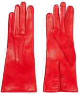 Alexander McQueen Leather Gloves - Red
