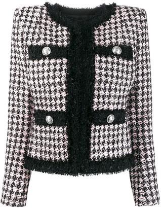 Balmain Tweed Houndstooth Jacket