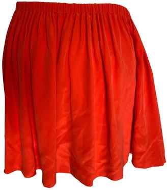Miu Miu Red Silk Skirts