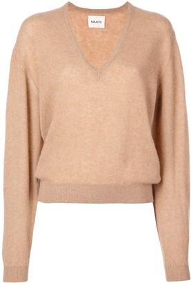 KHAITE Cashmere V-Neck Sweater