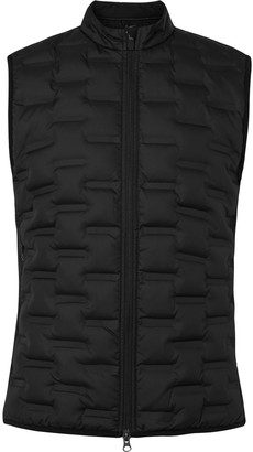 Nike Aeroloft Repel Padded Quilted Shell And Fleece Golf Gilet