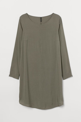H&M H&M+ Short Viscose Dress - Green
