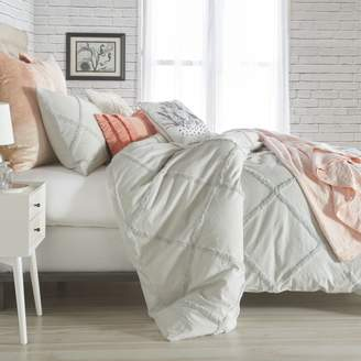 Chenille Lattice Comforter Set, King