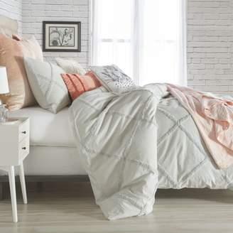Chenille Lattice Comforter Set, Twin