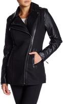 Fate Faux Leather Asymmetrical Zip Jacket