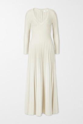 CASASOLA + Net Sustain Ada Ribbed-knit Midi Dress - Ivory