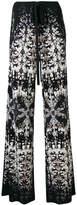 Roberto Cavalli printed flared trousers
